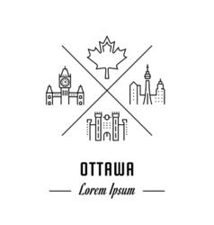 Line banner ottawa vector