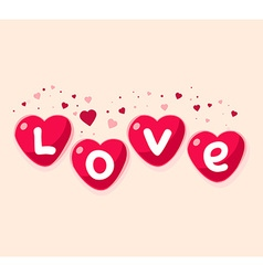 Lovely red hearts on white background ar vector