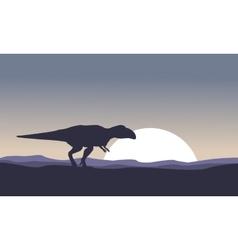mapusaurus at night scenery vector image