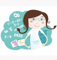 math girl vector image vector image