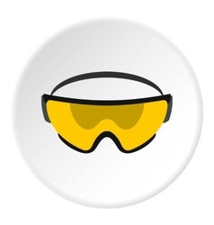 Military goggles icon flat style vector