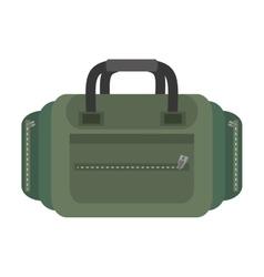 Packback travel bag tourist green vector