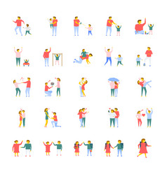 people flat icons pack vector image