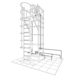 Petroleum gas installation tracing vector