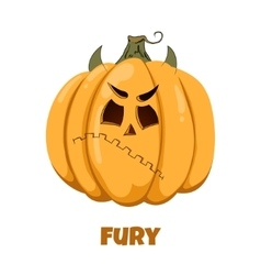 Pumpkin for Halloween Emotions Fury vector image vector image