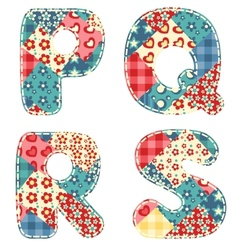 quilt alphabet vector image vector image