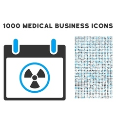 Radioactive calendar day icon with 1000 medical vector