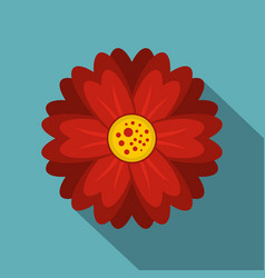 Red flower icon flat style vector