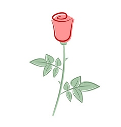 Retro rose vector image