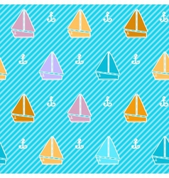 Seamless pattern with colorful boats vector image vector image