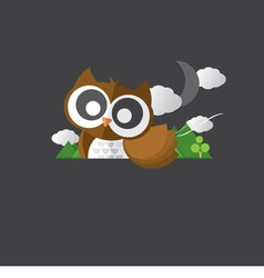 Single Cute Owl Portrait vector image vector image