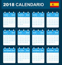 Spanish calendar for 2018 scheduler agenda or vector