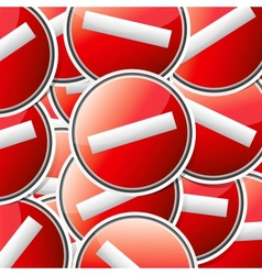 Sticker traffic symbols vector image