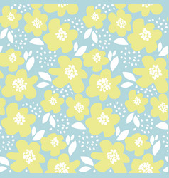summer floral in retro 60s style abstract hand vector image