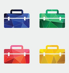 Tools box icon abstract triangle vector