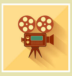 Video Movie Camera on Retro Background vector image vector image