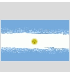 Grunge national argentinean flag vector