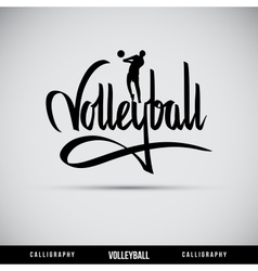 Volleyball hand lettering - handmade calligraphy vector