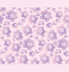 lilac color summer floral in retro 60s style vector image
