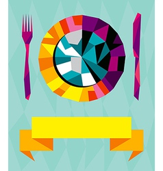 Origami gourmet composition vector