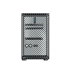 Computer server data work image vector