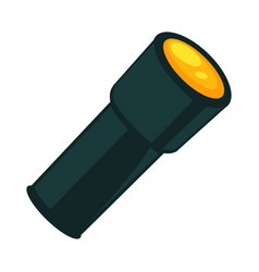 flashlight in dark color isolated on white vector image