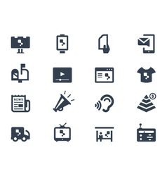 Advertising icons vector