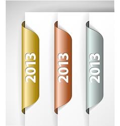 Metalic 2013 labels stickers vector