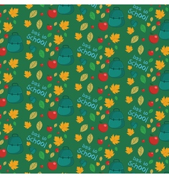 Seamless pattern with set of different school vector