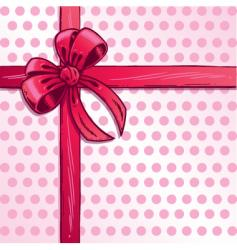 Valentines ribbon vector