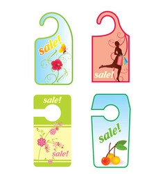 Sale spring label vector
