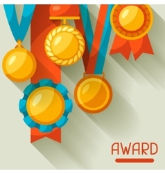 Sport or business background with medal award vector