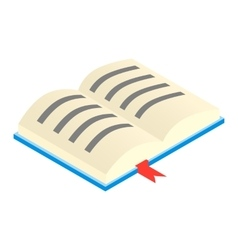 Open textbook isometric 3d icon vector
