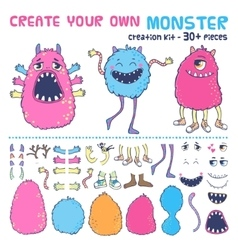 Monster creation kit vector