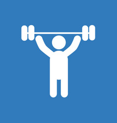 A man lifting weight silhouette vector