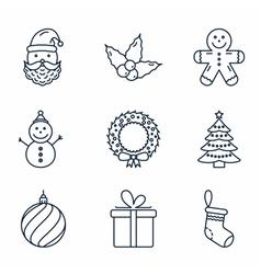 Basic Christmas Icons vector image vector image