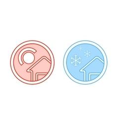 Climate control icon vector