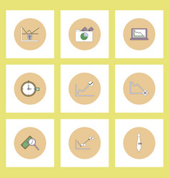 Collection of icons in flat style infographics and vector