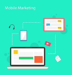 collection stock mobile marketing design style vector image