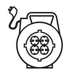 electric plug vector image vector image