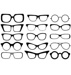 fashion glasses vector image