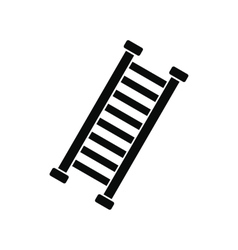 Firefighter ladder black simple icon vector