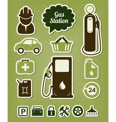 Gas station icons set vector image vector image