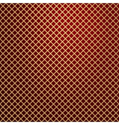 gold lattice on red background vector image vector image