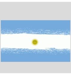 Grunge national argentinean flag vector