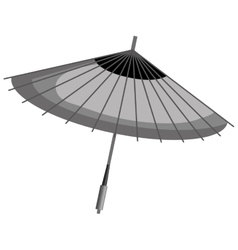 Japanese umbrella culture icon vector