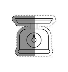 kitchen scale balance vector image vector image
