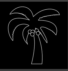 palm the white path icon vector image
