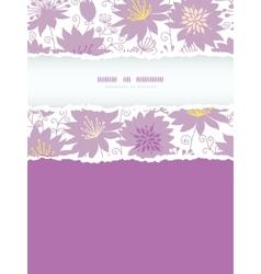 Purple shadow florals vertical torn frame seamless vector