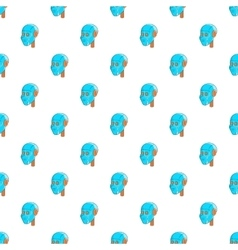 Robotic head pattern cartoon style vector